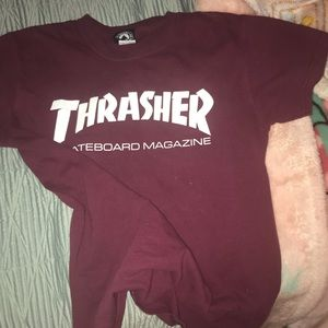 Thrasher Shirts - Maroon thrasher shirt